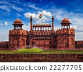 Red Fort Lal Qila with Indian flag. Delhi, India 22277705