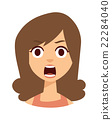 vector woman shocked 22284040