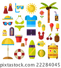 Summer symbols vector icons. 22284045