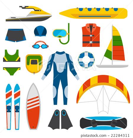 Summer fun entertainment vector illustration. 22284311