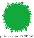圆形的城镇景观 22285062