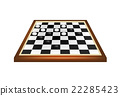 Checkers game in black and white design  22285423