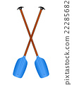 Two crossed paddles  22285682