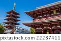 Shrine and Pagoda at Senso-Ji Temple in Tokyo 22287411
