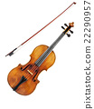 Violin on white background 22290957