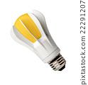 Closeup LED bulb 22291207