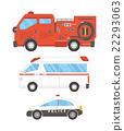 救火车 消防车 救护车 22293063