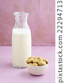 Peanut milk in a bottle 22294713