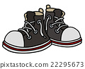 Funny black sneakers 22295673