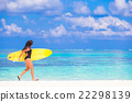 海滩 冲浪 夏天 22298139