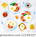 Breakfasts set eggs watercolor 22298307