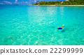 man, snorkeling, beach 22299999