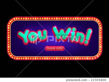 名称:you win banner for online casino, poker, roulette, slot