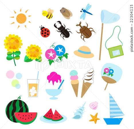ฤดูร้อน,หน้าร้อน,ไอคอน 22304115