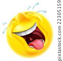 笑 微笑符号 脸部 22305159