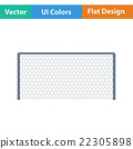 Flat design icon of football gate 22305898