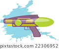 colorful water gun kids toy  22306952