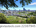 俯视仙台市的青叶山公园 22307945