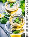 Tea. Mint Tea. Herbal tea. Mint leaf. Mint leaves. 22308033