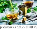 Tea. Mint Tea. Herbal tea. Mint leaf. Mint leaves. 22308035