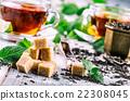 Sugar. Cane sugar. Cane sugar cubes heap close 22308045