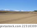 Hokkaido Tokachi The Hidaka ranges of the snowfall and patterns of vast fields corrugating 22316309