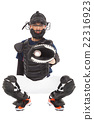 Baseball Player, Catcher, catched a baseball 22316923