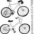 矢量 自行车 脚踏车 22317988