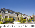New townscapes with newly built houses 22320008