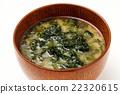 sea lettuce, miso soup, soup dish 22320615