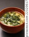 sea lettuce, miso soup, soup dish 22320617
