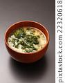sea lettuce, miso soup, soup dish 22320618