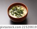 sea lettuce, miso soup, soup dish 22320619