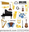 Music instruments vector illustration.  22322456