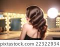 捲曲 女性 頭髮 22322934
