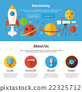 Astronomy Science Flat Web Design Template 22325712