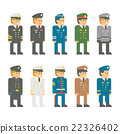 Flat design soldier uniform set 22326402