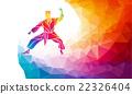 martial, art, silhouette 22326404