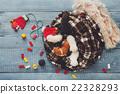 White and orange newborn kitten in a plaid blanket 22328293