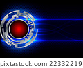 abstract circle technology and hex background 22332219