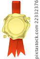 gold, red, seal 22332376