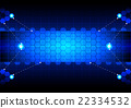 abstract  hexagon blue technology 22334532