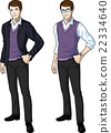 Caucasian office clerk in casual formal wear 22334640