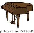 Closed grand piano 22336705