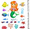 sea, mermaid, underwater 22337079