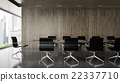 Interior of  boardroom with wooden wall  22337710
