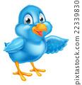 Cartoon Pointing Bluebird 22339830