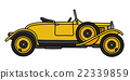 Vintage yellow roadster 22339859