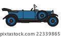 Vintage blue cabriolet 22339865