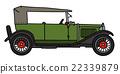 Vintage green cabriolet 22339879